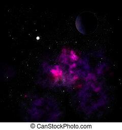 ser, brillado, nebulosa