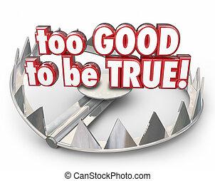 ser, bueno, scam, oso, trampa, fraude, trampa, robo, verdadero