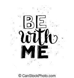 ser, com, mim, tipográfico, cartaz