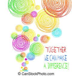 ser, como, marca, manera, nosotros, importante, texto, lata, algunos, o, juntos, escritura, muy, significado, group., difference., concepto, equipo