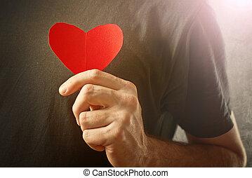 ser, conceito,  valentines,  Valentine, meu, Dia