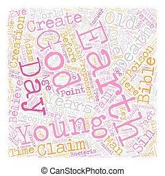 ser, concepto, cristiano, texto, wordcloud, lata, plano de fondo, tierra, creer, viejo
