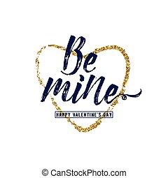 ser, corazón del oro, mina, ilustración, vector, frase,...