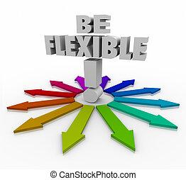 ser, dirección, flechas, flexible, sensible, cambiar,...