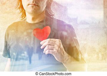 ser, dobro, conceito,  valentines,  Valentine, meu, Dia, exposição