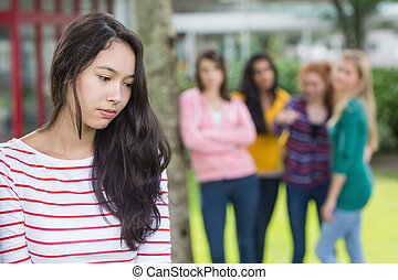 ser, estudiantes, intimidado, grupo, Estudiante