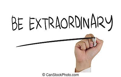 ser, extraordinario, concepto, tipografía