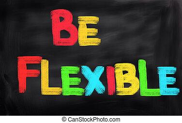 ser, flexível, conceito