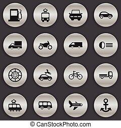 ser, jogo, furgão, móvel, icons., editable, 16, luminary, usado, inclui, símbolos, lata, infographic, ui, teia, despacho, tal, more., transporte, design.