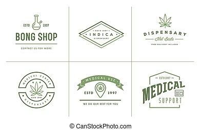 ser, jogo, modelo, logotype., médico, marijuana, sinal,...