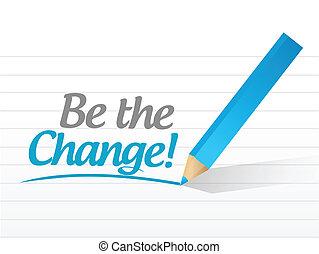 ser, mensagem, desenho, mudança, ilustração