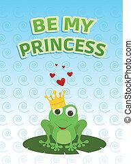 ser, mi, princesa, tarjeta