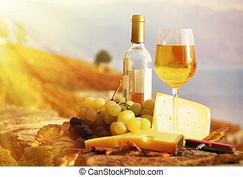 ser, przeciw, okolica, winnice, winogrona, wino, swit,...