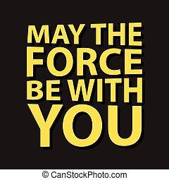 ser, quote., poder, -, creativo, vector, fuerza, tipografía, concepto, usted