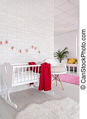 ser, sala, imaginativo, baby!, decorando, seu
