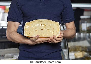 ser, spożywczy, dzierżawa, człowiek
