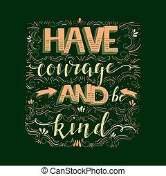 ser, tipo, coragem, ter