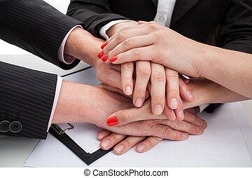 ser, unido, equipo