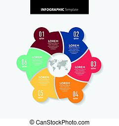 ser, usado, illustration., negócio, workflow, abstratos, número, diagrama, teia, esquema, vetorial, lata, infographics, passo, bandeira, template., opções, opções, design.