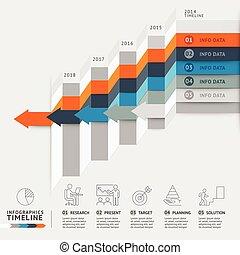 ser, usado, negócio, escadaria, workflow, timeline, opções,...