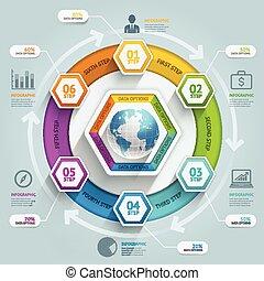 ser, utilizado, illustration., diagrama, workflow, timeline,...