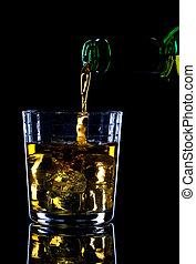 ser, whisky, vertido