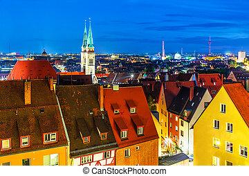 sera, panorama, di, nuremberg, germania