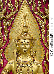 seraph wood carved gold paint