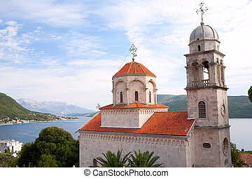 Serb Orthodox Savina monastery near the city Herceg Novi