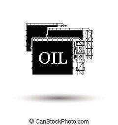 serbatoio, immagazzinaggio olio, icona