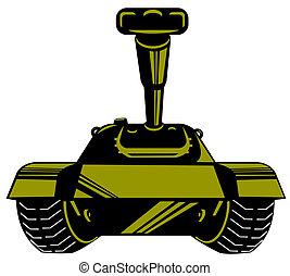 serbatoio, retro, esercito