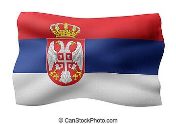 Serbia 3d flag