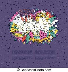 Serbia Concept Vector - Vector illustration of Serbia....