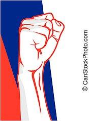 Serbia fist