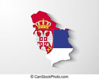 Serbia map with shadow effect presentation