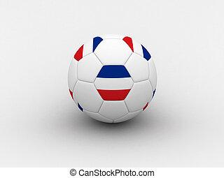 Serbia & Montenegro soccer ball - Photorealistic 3D soccer...