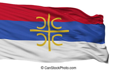 Serbia Nationalistic Flag Isolated Seamless Loop - Serbia...