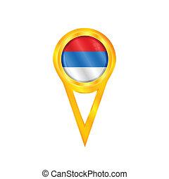 Serbia pin flag