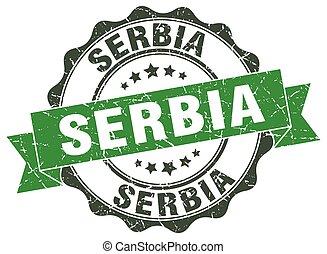 Serbia round ribbon seal