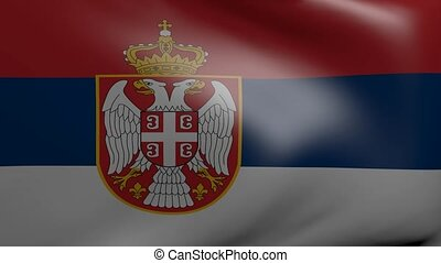 serbia strong wind flag
