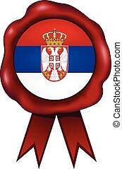 Serbia Wax Seal - Serbian wax seal.