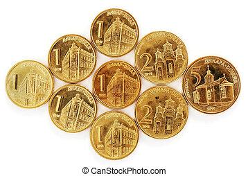 serbian, 디나르, 은 화폐로 주조한다