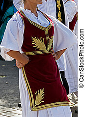 Serbian Dance - Women dancer in traditional costumes who ...