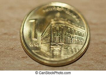 serbian, dinar, -, mynt, pengar