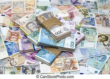 serbian, dinar, och, en annan, valuta