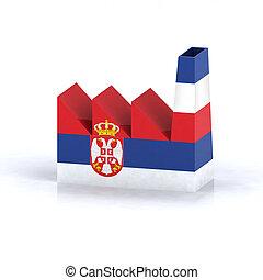 serbian factory symbol