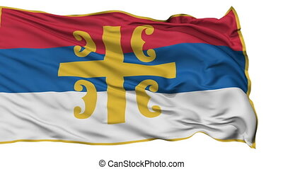 Serbian Orthodox Church Religious Isolated Waving Flag -...