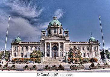 Serbian parlament Belgrade in HDR technique