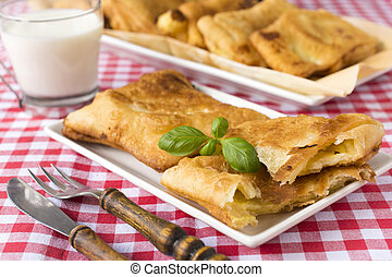 Serbian pastry - Serbian traditional pastry called listici. ...