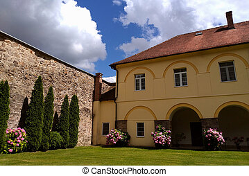 Serbian travel destination - Exterior of Jazak monastery...